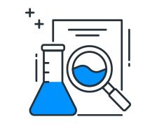 Icon representing detailed analysis