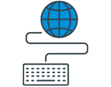 Multilingual financial reporting icon