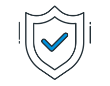 Financial data privacy icon